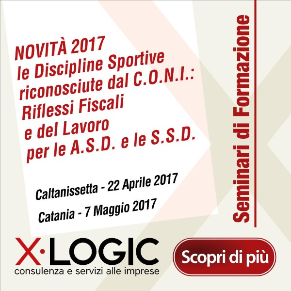 Seminario Formazione Novità 2017 Discipline Sportive riconosciute dal C.O.N.I.
