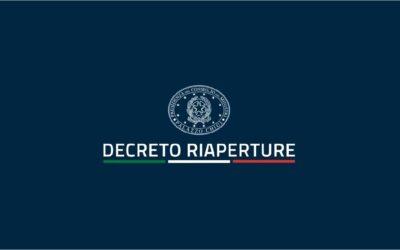 """""""DECRETO RIAPERTURE"""" E LO SPORT"""